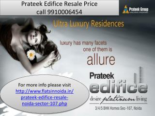 prateek edifice resale 9910006454