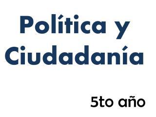Pol�tica y Ciudadan�a