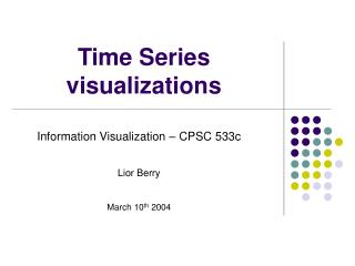 Time Series visualizations