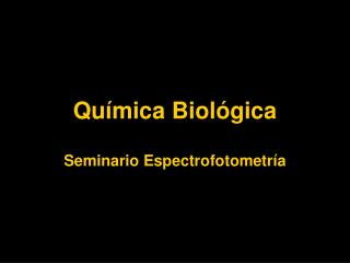 Química Biológica