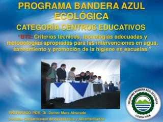 PREPARADO POR: Dr. Darner Mora Alvarado Instituto Costarricense de Acueductos y Alcantarillados