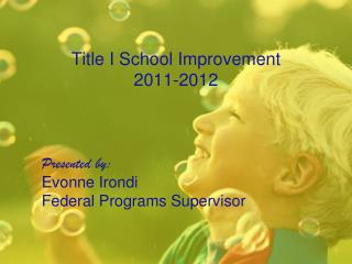 Title I School Improvement 2011-2012