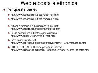 Web e posta elettronica