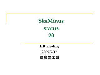 SksMinus status 20