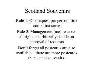 Scotland Souvenirs