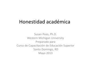 Honestidad académica