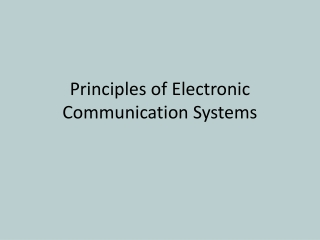 Chapter 3 : Single-Sideband SSB Communication System Chapter contents
