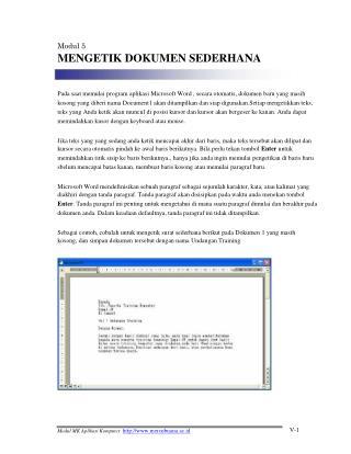 Modul 5 MENGETIK DOKUMEN SEDERHANA