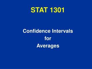 STAT 1301