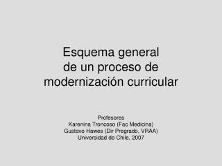 Esquema general  de un proceso de  modernizaci n curricular