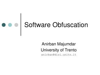 Software Obfuscation