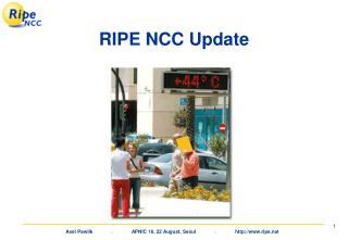 RIPE NCC Update