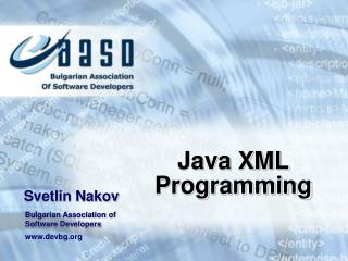 Java XML  Programming