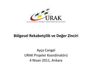Ayça Cangel URAK  Projeler Koordinatörü 4 Nisan 2011, Ankara