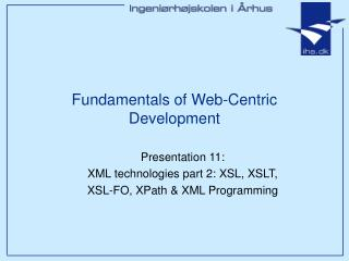 Fundamentals of Web-Centric Development