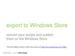 export to Windows Store