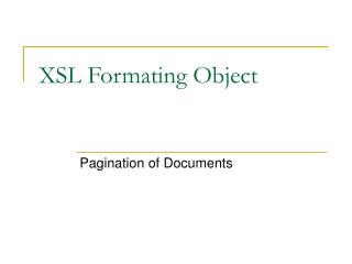 XSL Formating Object