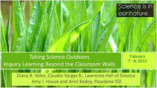 Taking Science Outdoors Inquiry Learning Beyond the Classroom Walls