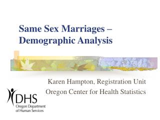Same Sex Marriages – Demographic Analysis