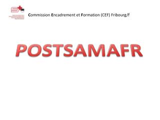 C ommission  E ncadrement et  F ormation (CEF) Fribourg/f