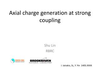 Axial charge generation at strong coupling