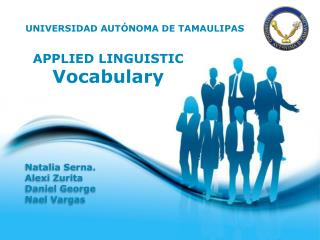 APPLIED LINGUISTIC Vocabulary