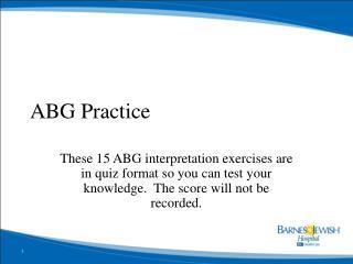 ABG Practice