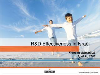R&D Effectiveness in Israël