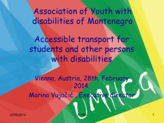 Association of Youth with disabilities of Montenegro