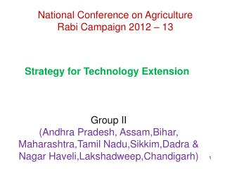 National Conference on Agriculture Rabi Campaign 2012 – 13