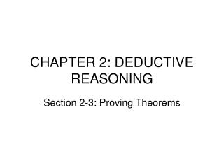 CHAPTER 2: DEDUCTIVE REASONING