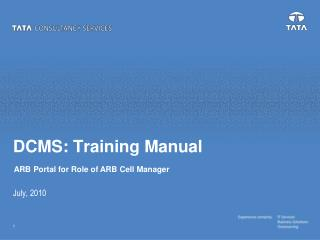 DCMS: Training Manual