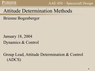 Attitude Determination Methods
