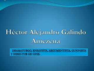 Héctor Alejandro Galindo Amezcua