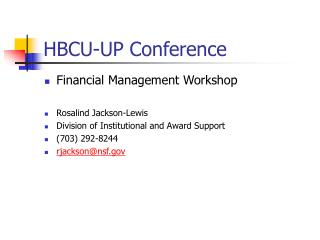 HBCU-UP Conference