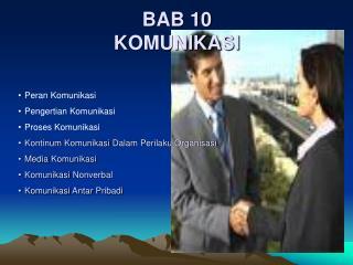 BAB 10 KOMUNIKASI