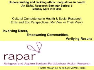 Involving Users,                            Empowering Communities,