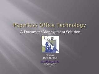 Paperless Office Technology