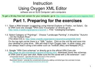 Part 1. Preparing for the exercises