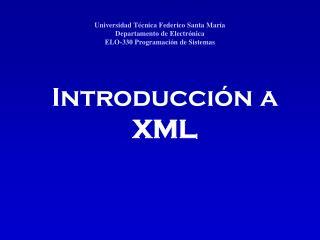 Introducción a XML