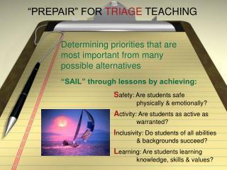 PREPAIR  FOR TRIAGE TEACHING