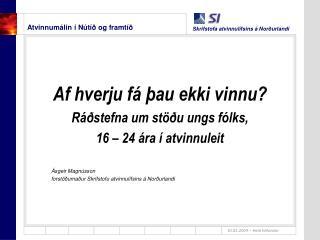 Atvinnumálin í Nútíð og framtíð