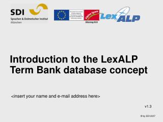 Introduction to the LexALP Term  Bank database concept