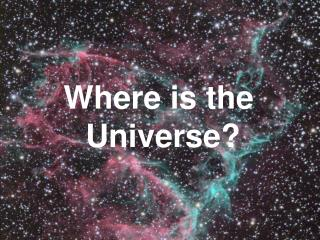 Where is the  Universe?