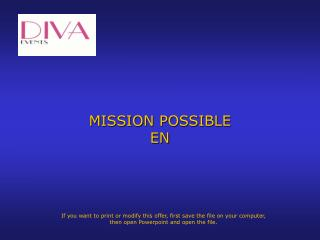 MISSION POSSIBLE EN