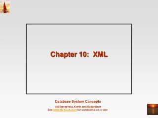 Chapter 10:  XML