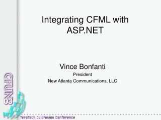 Integrating CFML with ASP.NET