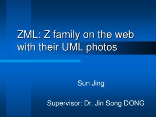 ZML: Z family on the web with their UML photos