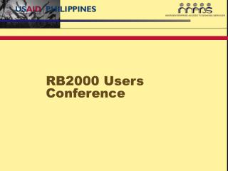 RB2000 Users Conference