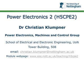 Power Electronics 2 H5CPE2